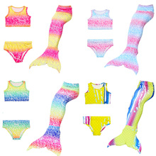 3-12Y Children Mermaid Tails Halloween Fancy Clothes Swimming Mermaid Tail Costume Princess Ariel Mermaid-Tail Swimsuit For Girl