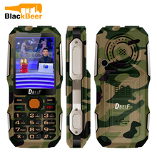 DBEIF D2016 Magic Voice Button Key Dual Flashlight FM Outdoor Shockproof MP3/MP4 Powerbank Antenna Analog TV Rugged Mobile Phone(China)