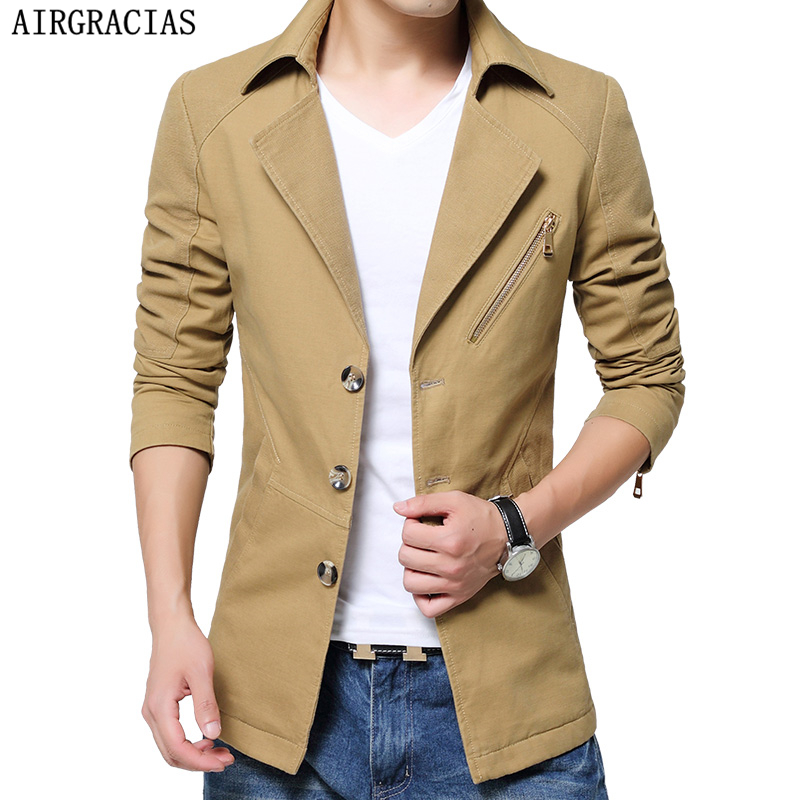 AIRGRACIAS 2017 Spring Fashion Windbreak Jacket Me...
