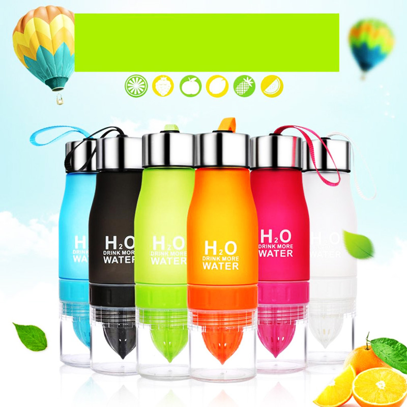 Bottle - 650ML Lightweight Fruit Bottle Infuser Juice Water Bottle for Healthy Drinking