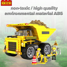 3723 423PCS COGO City Construction Dump Truck Educational Toys Building Brick Blocks Sets Toys Learning Block Model Toy For kids(China)