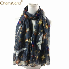 Chamsgend Scarves Spring Birds Scenery Women Art Scarf Wraps Shawl Winter Stole 71121 Drop Shipping(China)