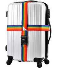 PACGOTH 4m PP Multicolor Cross Packing Belt Package Baggage Straps Rainbow With Safe Secure Code Lock 5cm x 4m, 2 Pieces