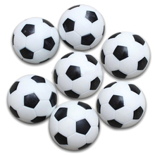 5x Plastic 32mm Soccer Indoor Table Football Ball Replace Black+white