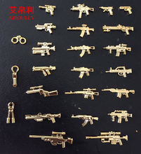 22pcs Aiboully Military Series Weapons Bricks Army Soldier figure toys Golden AK GUN Shotgun Police Compatible With Lepin