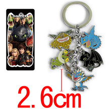 NEW How to Train Your Dragon toys figures Keychain Toothless Night Fury Key ring necklace pendant for kids Christmas gift