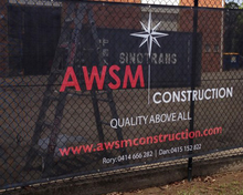 CUSTOM PVC MESH BANNERS - PRINTED OUTDOOR SIGN - VINYL MESH BANNERS