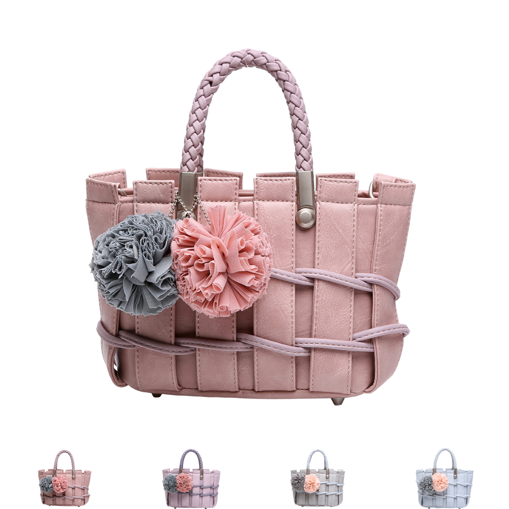 Reiwalker Womens Handbags Flower Hang Adorn Top Handle Bags For Girls Shoulder Bags<br><br>Aliexpress