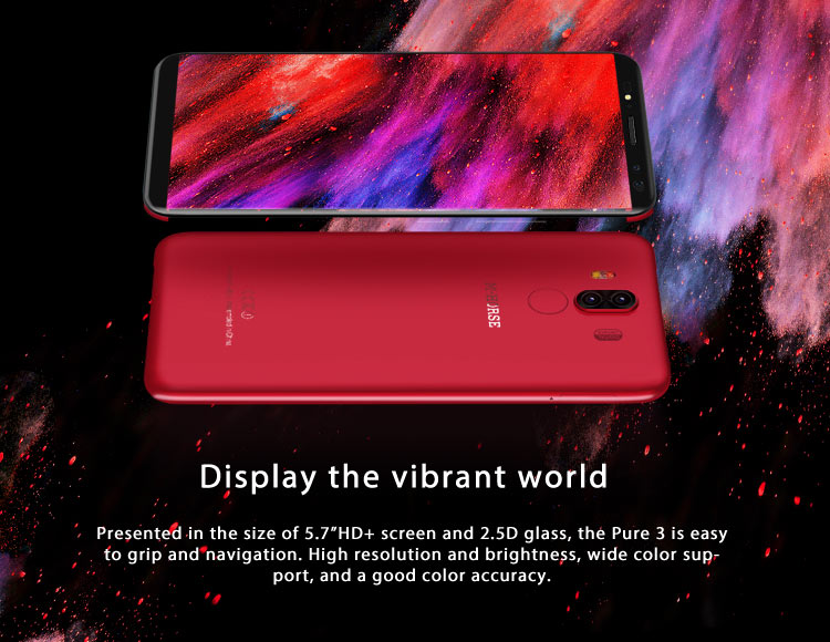 M-HORSE PURE 3 4GB RAM 64GB ROM Helio P23 MTK6763 2.0GHz Octa Core 5.7 Inch IPS Full Screen Quad Camera Android 7.1 4G LTE Smartphone