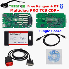 2017 Top Multidiag Pro Green Single PCB With Bluetooth 2014.R2/R3 Free Keygen Multi diag TCS CDP Pro OBD2 OBDII Diagnostic Tool