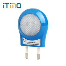 Portable LED 0.7W Night Light Control Auto Sensor Baby Bedroom Lamp White EU Plug 100V-240V #HA10347(China)