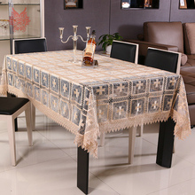 European style floral embroidery Table Cloth lace table cover nappe de table rectangle tablecloth toalha de mesa SP3038