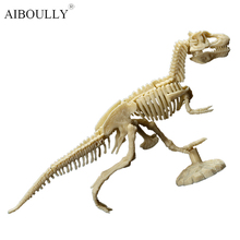 5pcs super hot creative interesting DIY assembly model of dinosaur fossils interesting archaeological gifts toys for children(China)
