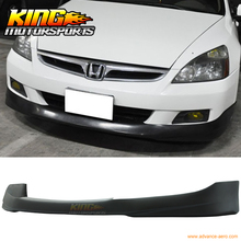 For 2006-2007 Honda Accord HFP Style Front Bumper Lip - Pre-Primered PU