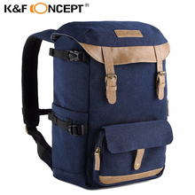 Fast Transport K&F CONCEPT Large Capacity Multi-functional Waterproof Camera Backpack Travel Bag With Chest Belt Hold SLR Tripod(China)