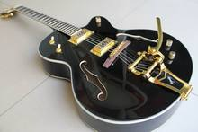 New Arrival Gre tsch brian setzer Semi signature Hollow Body Jazz 6120 electric guitar with bridge bigsby in black 120415(China)