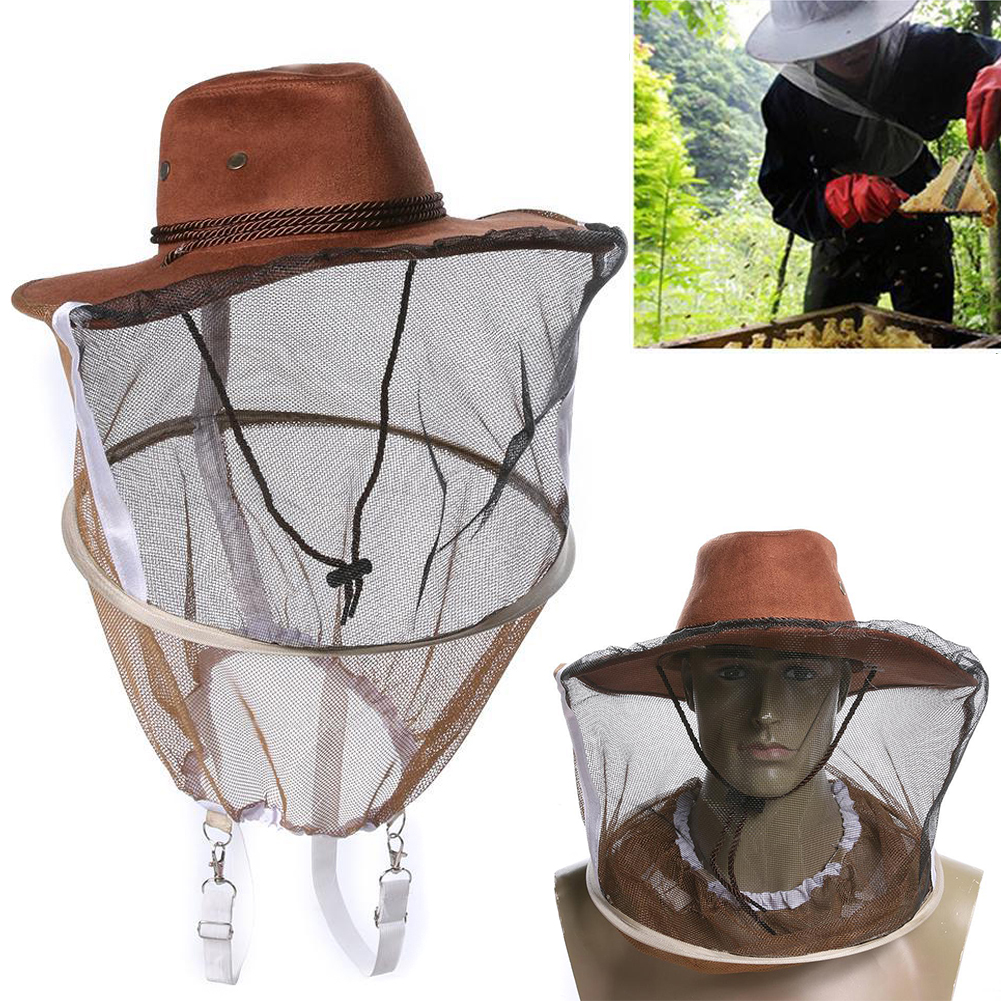 Beekeeping Beekeeper Hat Mosquito Bee Insect Net Veil Face Head Protector