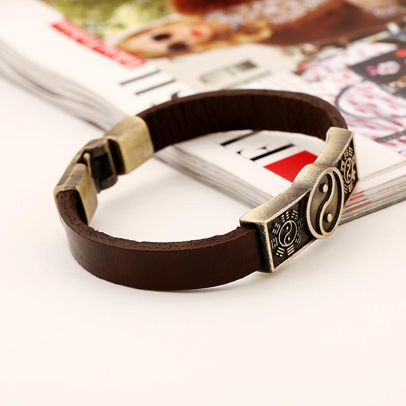 Bracelet yin yang fermoir en métal   OkO-OkO