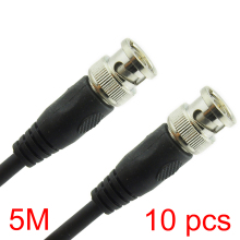 10x 5M/16.4FT BNC Male to BNC Male Connector RG59 Coaxial Cable For CCTV Camera(Hong Kong)