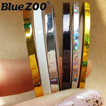 10pcs/Lot 2mm 3mm Metal Stripe Line Nail Sticker Six Color Nail Rolls Striping Tape Line Nail Decoration Wholesale