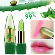 2017 New Batom 99% ALOE VERA Natural Temperature Change Color Jelly Lipstick Long Lasting Moistourizing Lip Makeup(China)