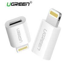 Ugreen Micro USB Adapter to Lightning for iPhone Cable Converter USB Charger&Sync Data Cable for iPhone 6 5 iPad Air iPod iOS 10(China)