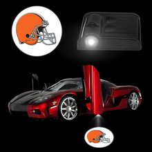 2PCS/Set CLEVELAND BROWNS Logo Car Lights Wireless Car Door Projector LED Lamp Battery luminaire Accessories for chevrolet cruz