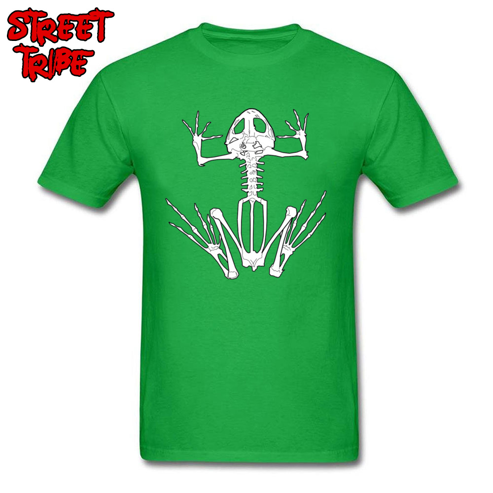 Frog Skeleton 13000 Normal Fall Pure Cotton O-Neck Men Tops Shirt Unique Sweatshirts Company Short Sleeve Top T-shirts Frog Skeleton 13000 green