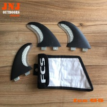 Fitted surfboard fins FCS M G5 fins surf table surf fins with fcs G5 original bag