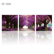 triptych frame home decoration modular picture flower kids room Hd canvas printing oil painting scenery painting on canvas beaut