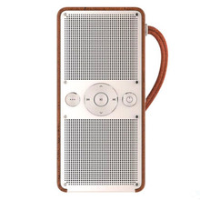 newly released craftsmanship rosewooden FM portable nature of sound speaker with built-in 1200mah battery and 8G TF