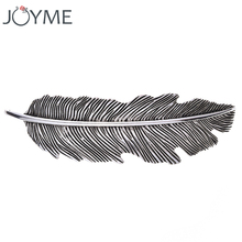 Joyme Women Vintage Hairpins Hair Clip Feather Jewelry Accessories Retro Silver Plated Bohemian Boho Statement Hair Pins(China)