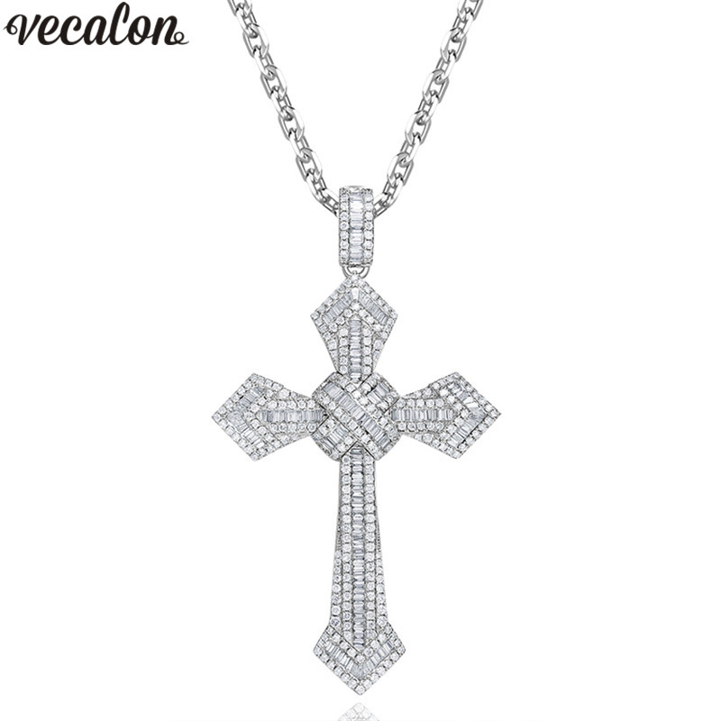 Fashion Lady Crucifix Digitals 8 Pendant Choker Chunky Necklace Silver Chain