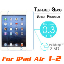 Hot Premium Tempered Reinforced Glass Screen Protector Film Case For iPad 2 3 4 /5 Air For iPad Mini 1 2 3 4 Clear Front Films