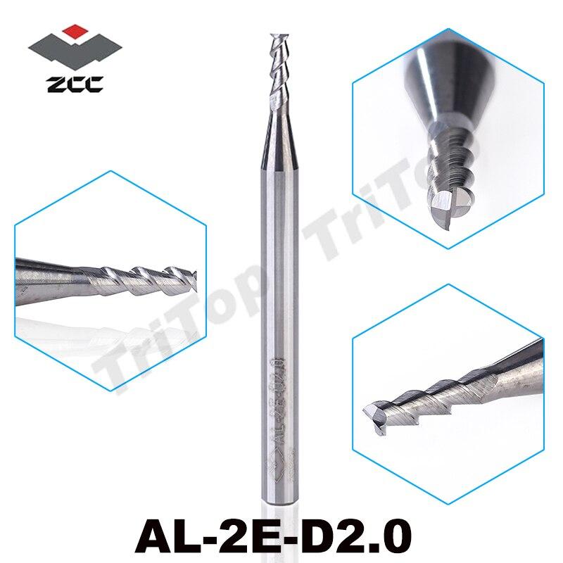 5pcs/pack AL-2E-D2.0 ZCC.CT solid Carbide End mills 2mm  2 flute aluminium alloy cnc machining milling cutter cutting tools<br><br>Aliexpress