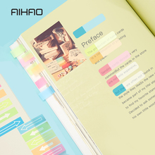 AIHAO Fluorescence notes Bookmarks design memo pad Novelty sticky note Office material memos post it Message notes supplies