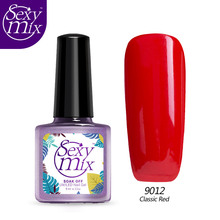 Sexy Mix 9ML UV Nail Gel Polish Long Lasting LED Red Nail Polish Lacquer Need UV Gel Base And Top Coat Best for Wedding