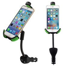 Black Car Cell Phone Holder Charger For iPhone Car Mount Dual USB 2.1A Over Mobile Phone Charger Current Protection VG001 T150.8