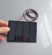 1pc x 12V 1.5W 100MAh Polycrystalline Silicon Solar Panel Module Mini Solar Cells Battery Phone Charger With Welding Wire