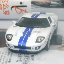 Brand New KT 1/36 Scale Car Model Toys 2006 Ford GT Diecast Metal Pull Back Car Toy For Gift/Collection/Kids
