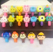 10pcs/lot New Cartoon Cable winder Cable Wire Organizer USB Charger Cable Holder Headphone Cord Storge(China)
