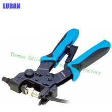 LUBAN TL-H510B 0.5-6MM2 PROFESSIONAL COMPRESSION CRIMPING TOOLS For Crimping F,BNC,RCA,RG 59, RG6 F type cable pliers