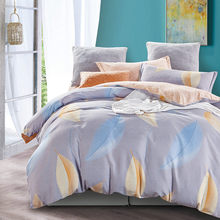 Free Shipping Modern Style 100% Cotton Duvet Cover Set Bed Sheet Pillow Case King Size Super Soft Bedding Sets XKE007(China)