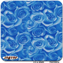 TSHY052-4 0.5m *2M Popular blue rose flower hydro dipping pva film hydrographic film  water transfer printing film