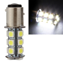 Pure BA15S White/Yellow 1157 5050 SMD 18 LED Car Auto Tail Brake Stop Signal Lights lamp Bulb DC 12V #EA10483