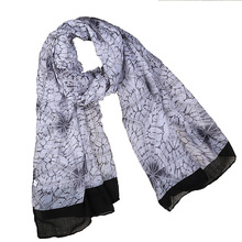 Women's Scarves Print Navy blue Grey Black Aqua-blue Aqua Yellow Pink Voile Soft Long Scarf shawl Hijab 90CM*180CM  XSH