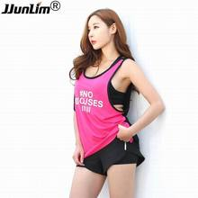 2017 New Fitness Vest Sport Suit Yoga Tank Top Quick-Dry Sleeveless Running Shirt Female Sportswear Workout Gym Women'S T-Shirts