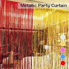 New 1Mx3M shimmering Gold Silver Metallic Tinsel Curtain Foil Room Shiny Pub party Stage wedding decors backdrop Background15
