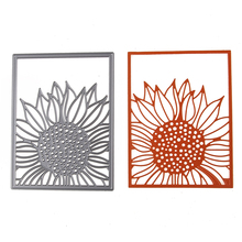 96*127mm Sunflower Dies Cut Album Decoration Scrapbook Craft Die 3D Stamp DIY Embossing Scrapbooking Card Paper Cards Template(China)