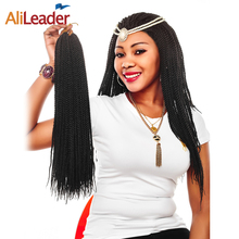 "AliLeader Kanekalon Synthetic Hair Brands, 18"" 30Strands Senegalese Twist Crochet Braid Hair Ombre Burgundy Purple Gray 15Colors"